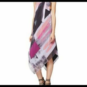 Rachel Roy Brushed Print Handkerchief Scarf Dress